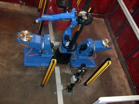 motoman welding cell ma1900 extended reach robot arm