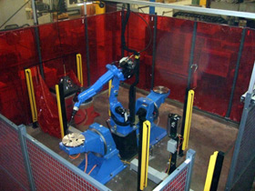 fabworld robotic welding cell versatech