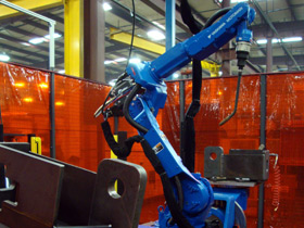 robotic welding yaskawa dx100 complicated weld